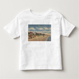 Neptune Beach, FL - View of Ocean Front Homes Toddler T-Shirt