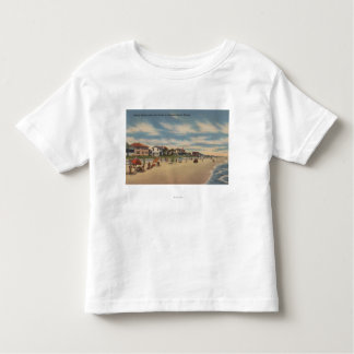 Neptune Beach, FL - View of Ocean Front Homes Tee Shirts