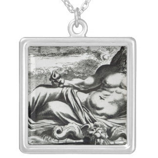 Neptune, c.1653 silver plated necklace