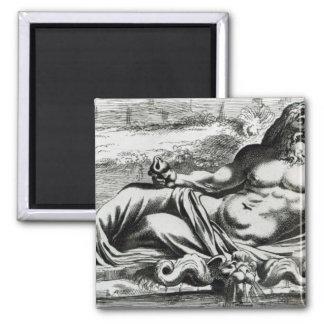 Neptune, c.1653 square magnet