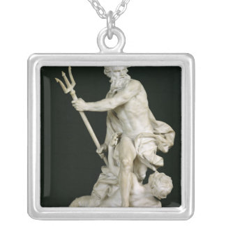 Neptune Calming the Waves, 1757 Silver Plated Necklace