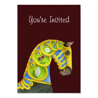 Neptune Carousel Horse Invitation