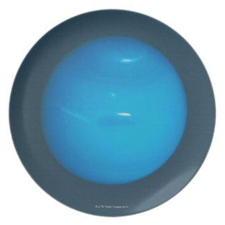 Neptune, dynamic blue-green atmosphere plate