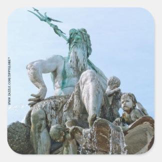Neptune Fountain in Berlin Square Sticker