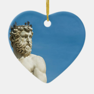 Neptune in Florence02 Ceramic Heart Decoration