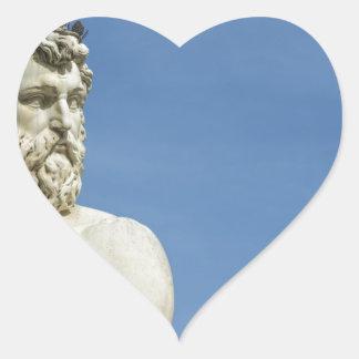 Neptune in Florence02 Heart Sticker