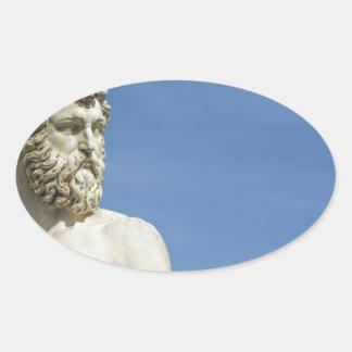 Neptune in Florence02 Oval Sticker