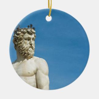 Neptune in Florence02 Round Ceramic Decoration