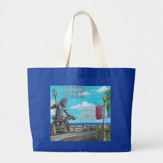 Neptune in Va. Bch. Large Tote Bag