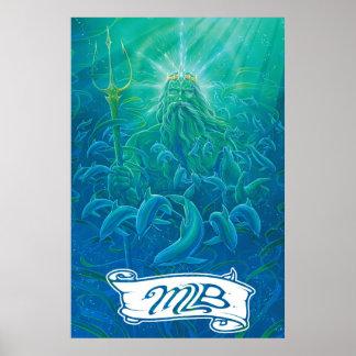 Neptune Maui Longboards Poster