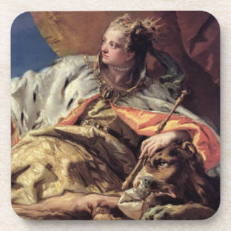 Neptune offering gifts to Venice (ceiling fresco) Coaster