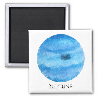 Neptune Planet Watercolor Magnet