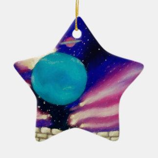 Neptune Space Universe Sky Stars Scifi Ceramic Star Decoration