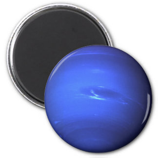 Neptune Surface Photo Blue 6 Cm Round Magnet