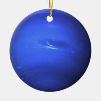 Neptune Surface Photo Blue Christmas Ornament
