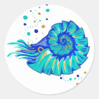 Neptune's Nautilus Classic Round Sticker
