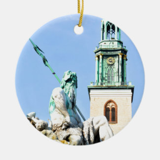 Neptun's fountain in Berlin, Germany Christmas Ornament