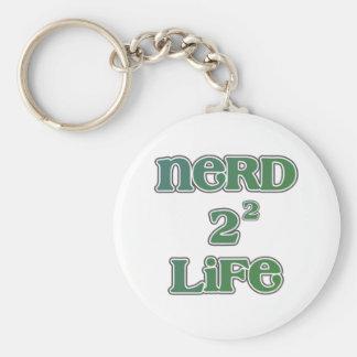 Nerd 4 Life Squared Basic Round Button Key Ring