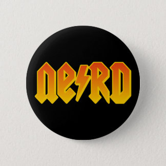 nerd 6 cm round badge