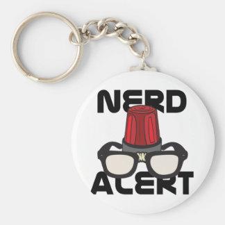 Nerd Alert! Basic Round Button Key Ring