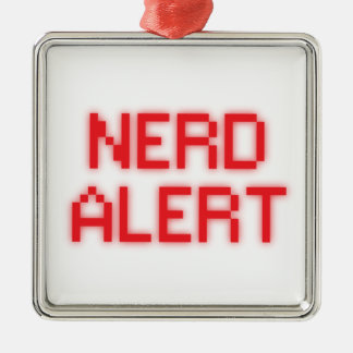Nerd Alert Christmas Ornament