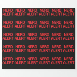 Nerd Alert Wrapping Paper