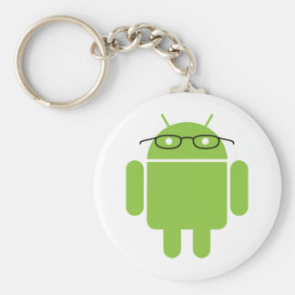 Nerd Android Basic Round Button Key Ring