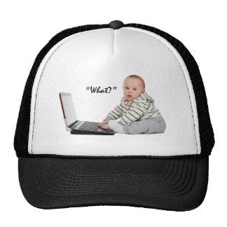 Nerd Baby on laptop Trucker Hat
