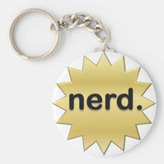 Nerd Basic Round Button Key Ring