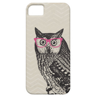 Nerd Bird Vintage Graphic Owl iPhone Case