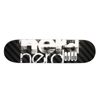 Nerd; Black & Dark Gray Stripes Skate Deck