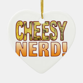 Nerd Blue Cheesy Christmas Ornament
