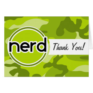 Nerd; bright green camo, camouflage cards