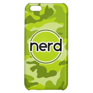 Nerd bright green camo camouflage iPhone 5C cases