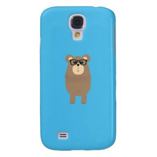 Nerd Brown Bear Q1Q Galaxy S4 Case