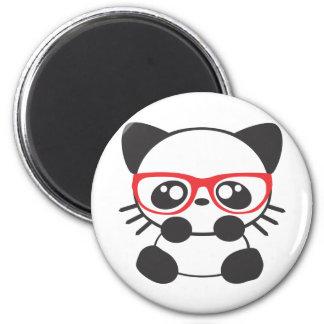 Nerd Cat 6 Cm Round Magnet