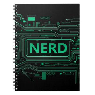 Nerd concept. note book