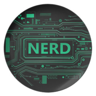 Nerd concept. party plate