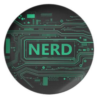 Nerd concept. plate