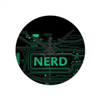 Nerd concept. round clock