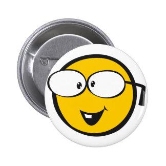 Nerd Emoji 6 Cm Round Badge
