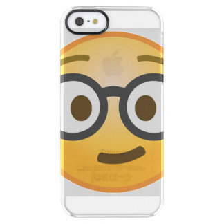 Nerd Emoji Clear iPhone SE/5/5s Case