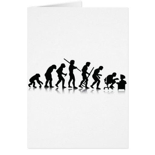 Nerd Evolution Greeting Cards