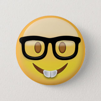 Nerd Face Emoji 6 Cm Round Badge