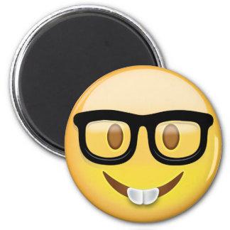Nerd Face Emoji 6 Cm Round Magnet