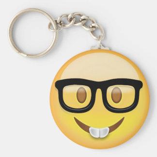 Nerd Face Emoji Key Ring