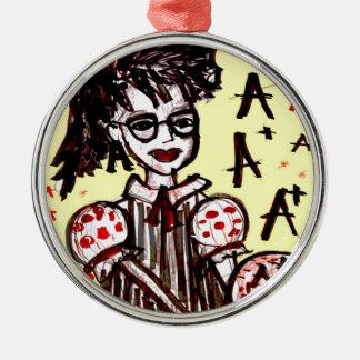 nerd girl christmas ornament