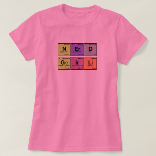 NERD GIRL! Periodic Elements Scramble T-Shirt