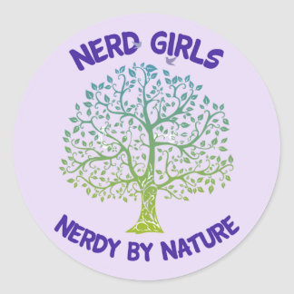 Nerd Girls Nerdy by Nature Sticker
