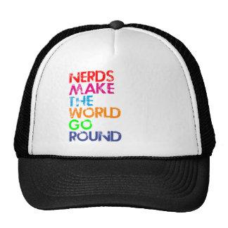 Nerd meke the world go round trucker hat